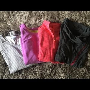 Active Wear Long Sleeve Bundle (4) L